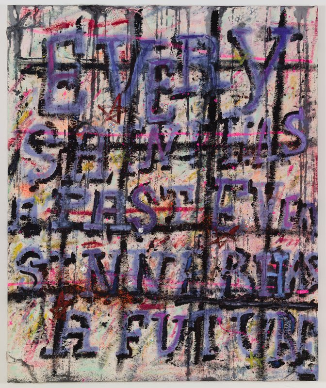 Every Saint Has a Past, Every Sinner Has a Future, 2014, oil emulsion, dry pigment and mixed media on canvas, 47 x 38 in.